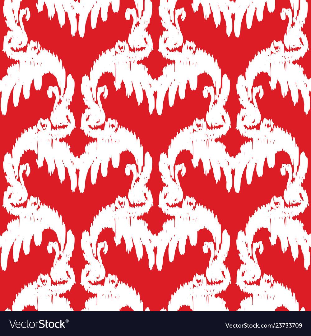 Red and white elegant seamless pattern vintage