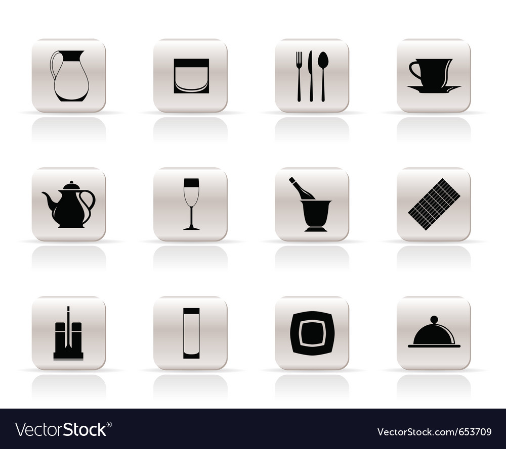 Restaurant and cafe icons