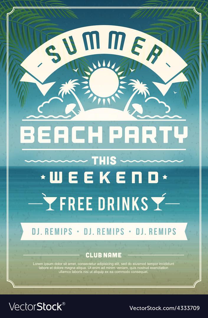 Retro summer design poster
