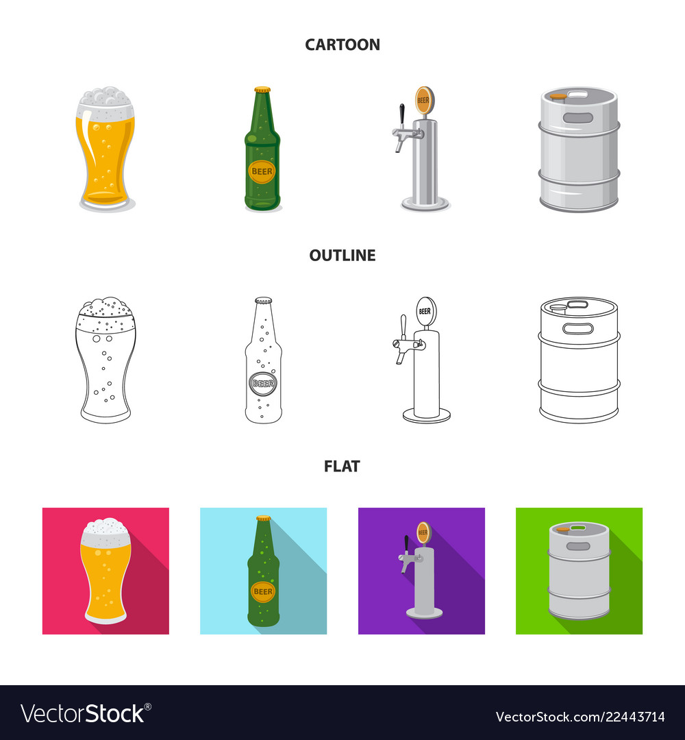 Design of pub and bar icon set of pub and