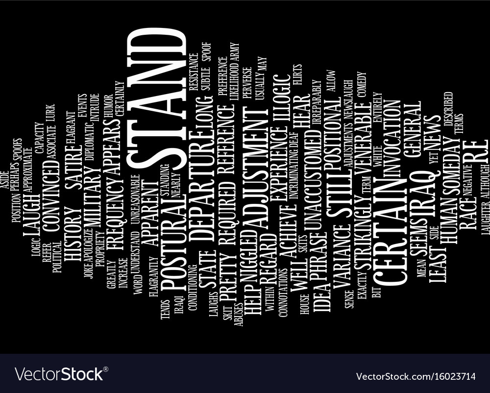Exactly what does stand down mean text background vector image