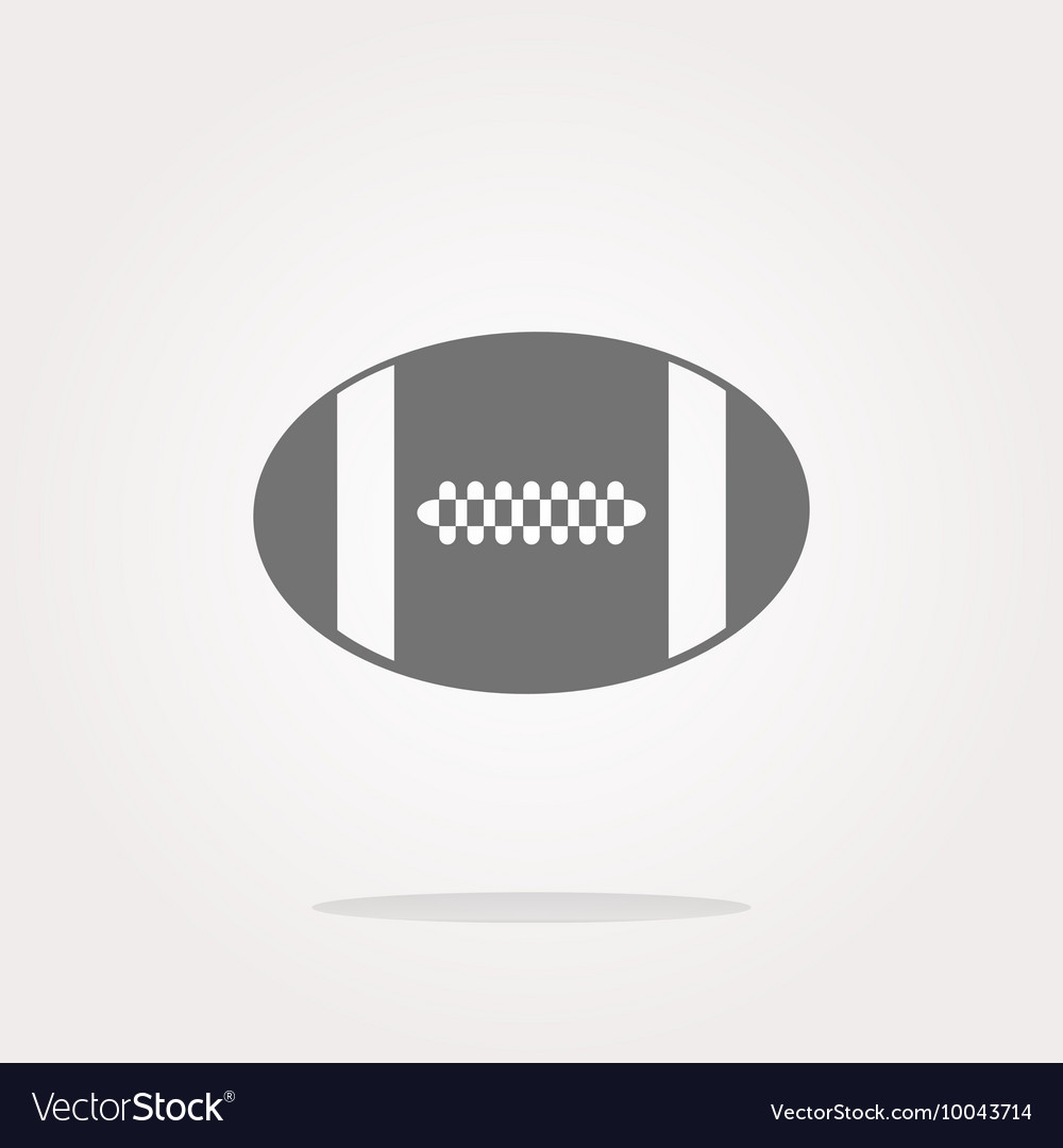 Football ball icon web button vector image