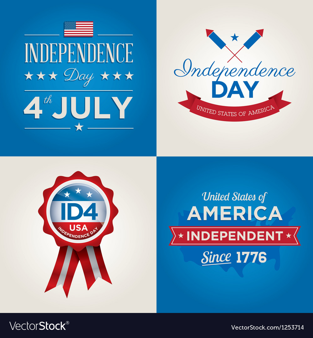 Happy independence day usa cards fonts