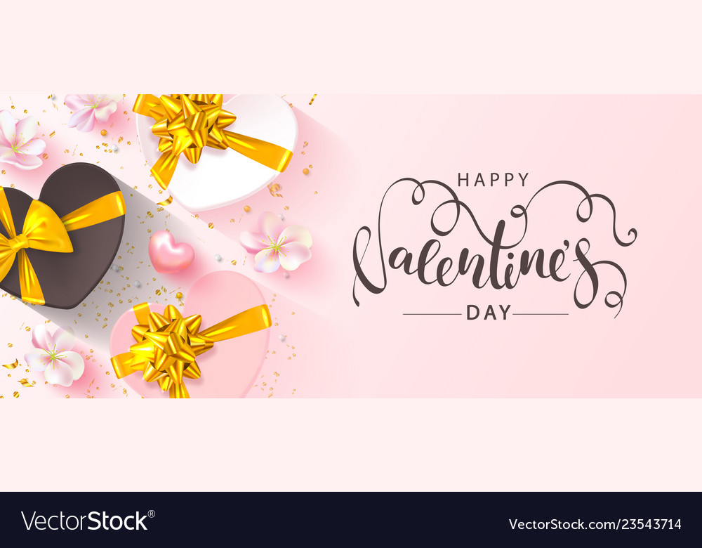 Happy valentine s day banner beautiful blue