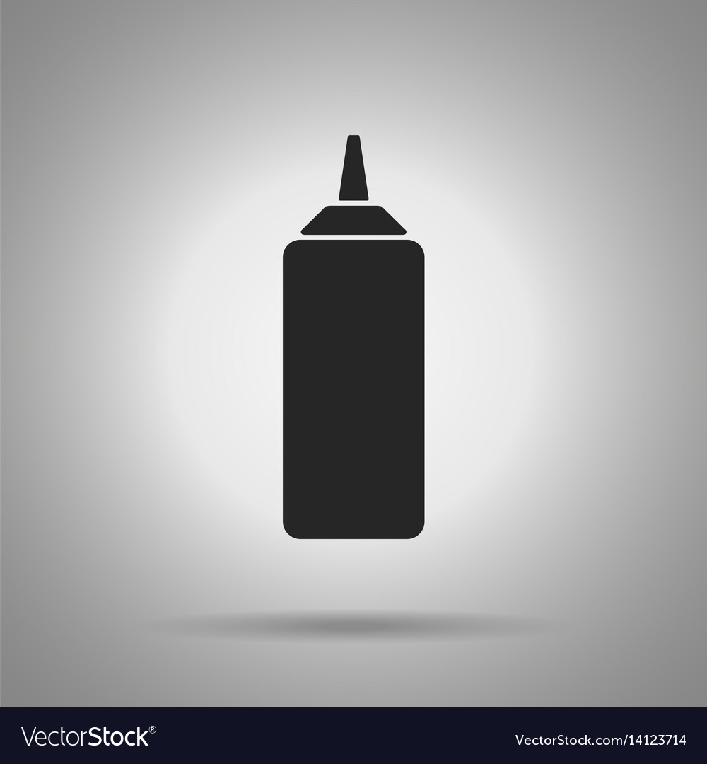 Ketchup bottle icon simple