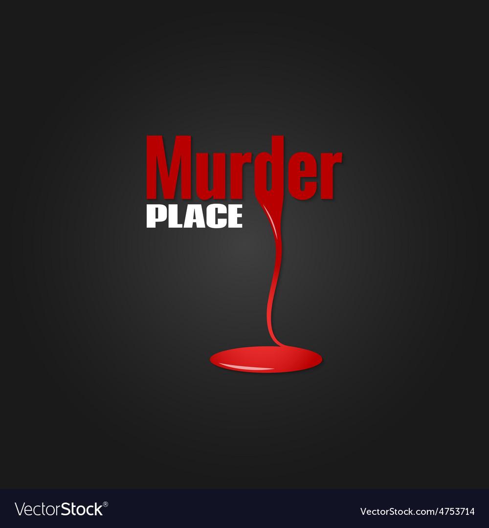 Murder blood design background vector image