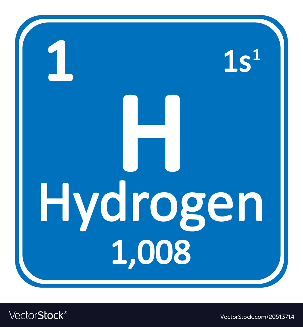 periodic table element hydrogen icon royalty free vector