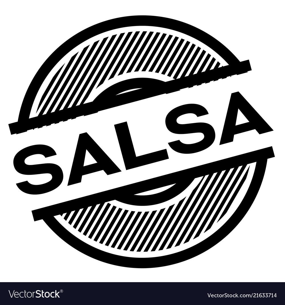 Salsa black stamp Vector Image