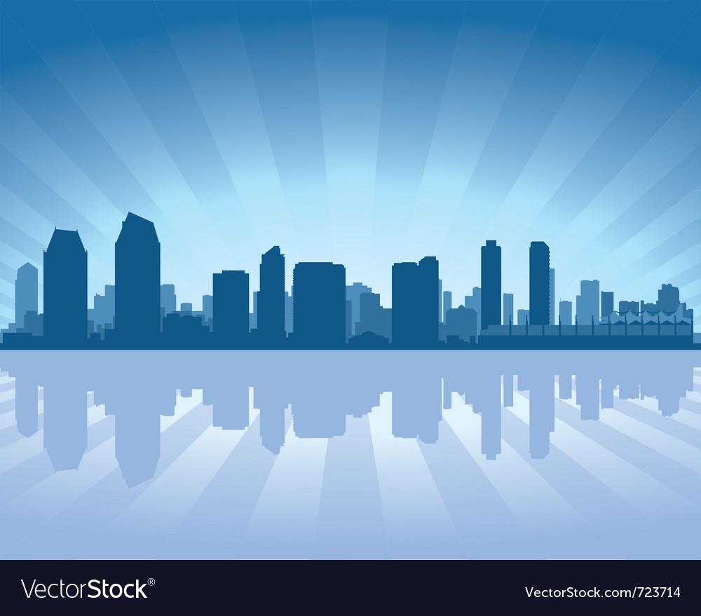 San Diego Skyline Vector Image