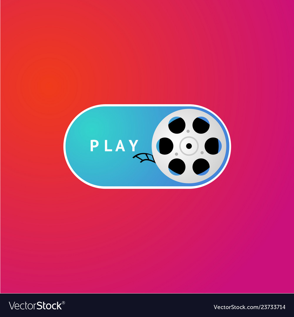 Switch button with cinema film on demand video