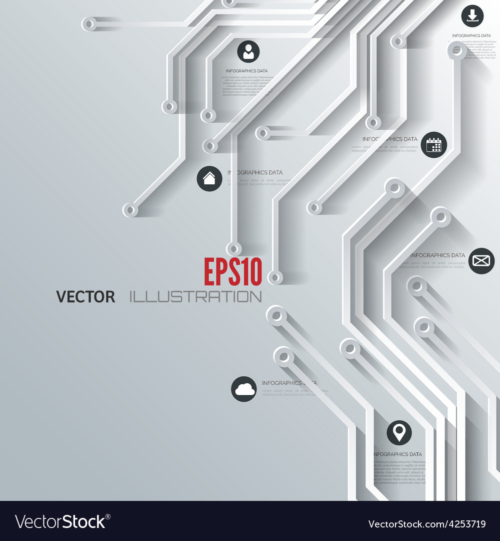 Abstract integrated circuit Business background Vector Image