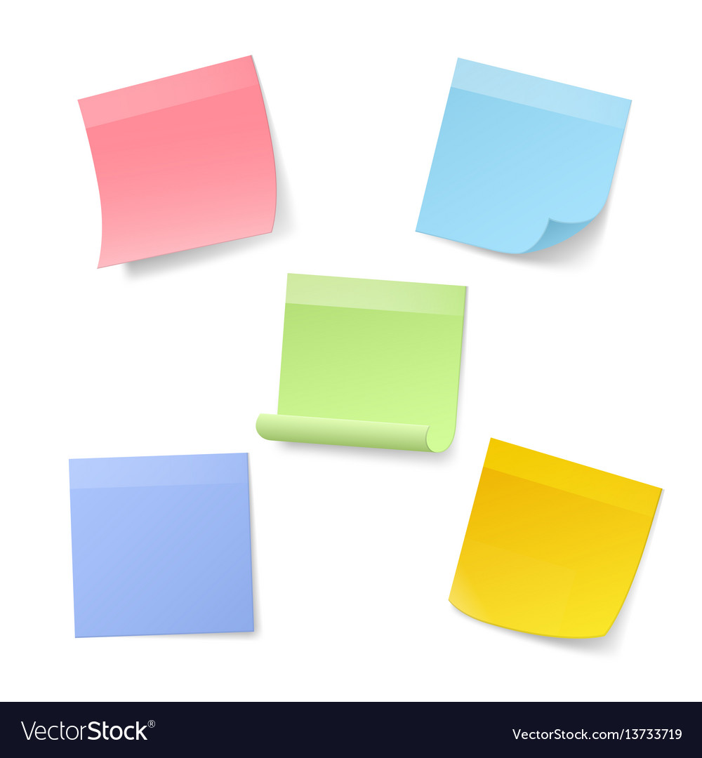 Blank realistic sticky note papers