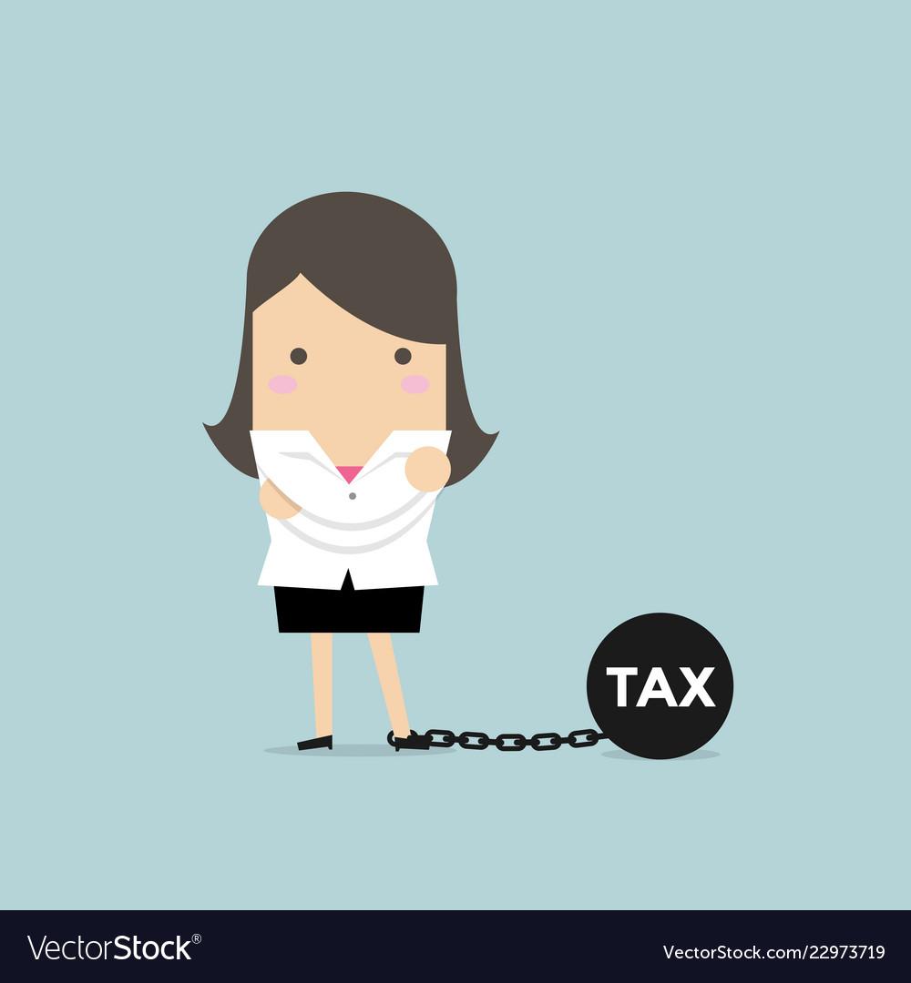 Businesswoman with tax burden
