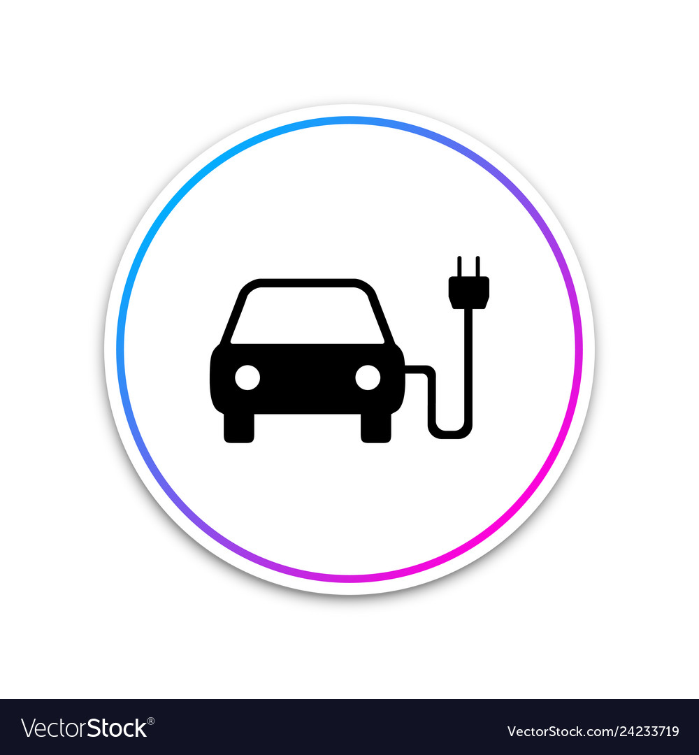 Electric car and electrical cable plug charging