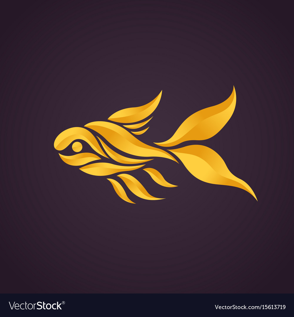 Goldfish logo icon vector
