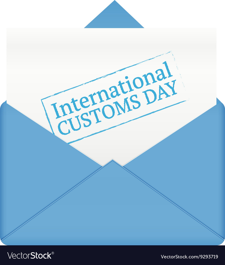 International customs day in paper envelope