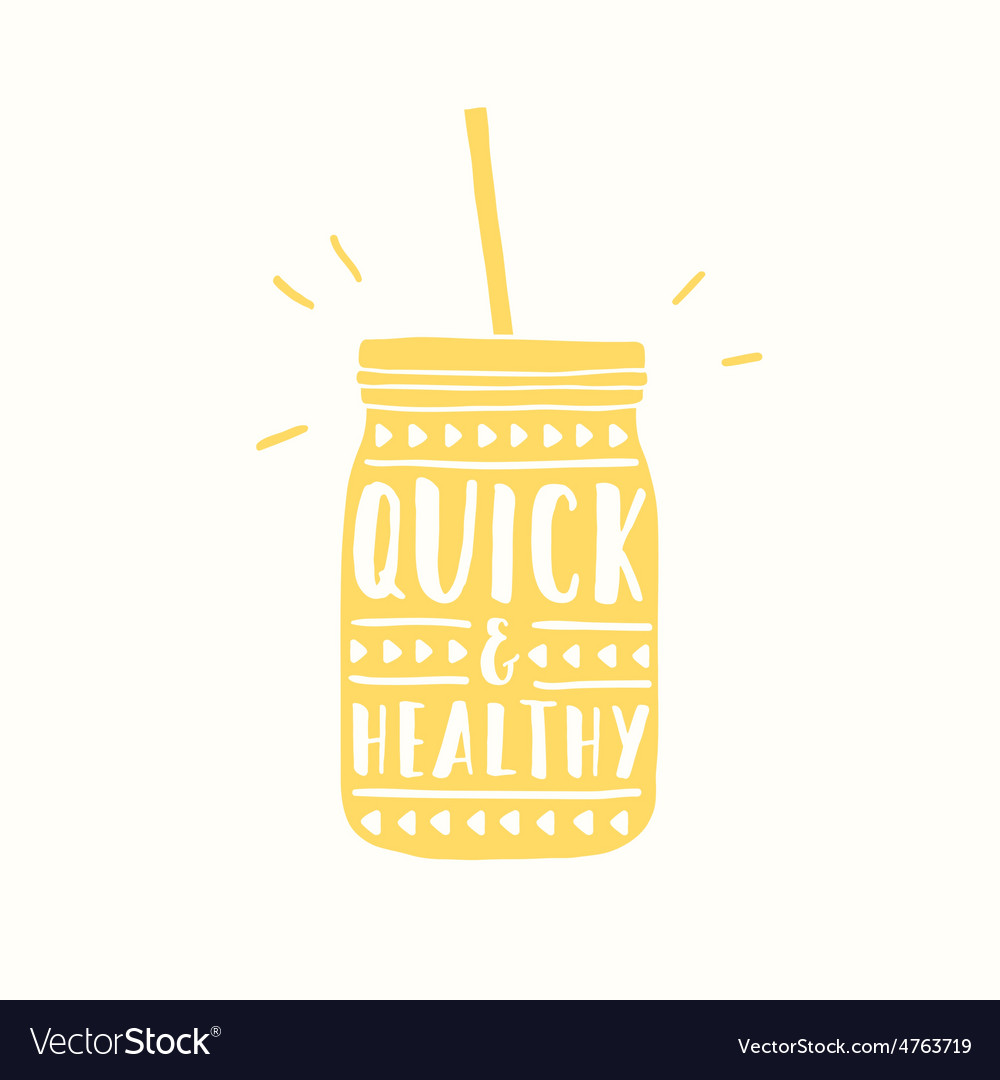 Quick and healthy Jar silhouette