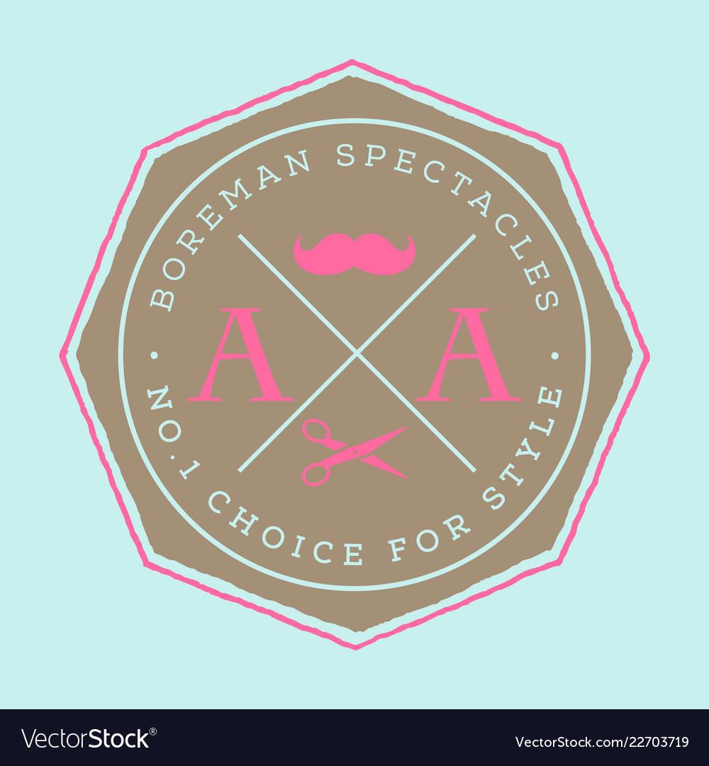 Retro vintage insignias or logotypes set with