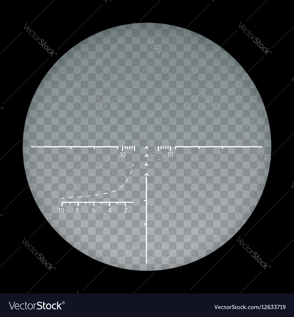 Target sight sniper symbol isolated on a