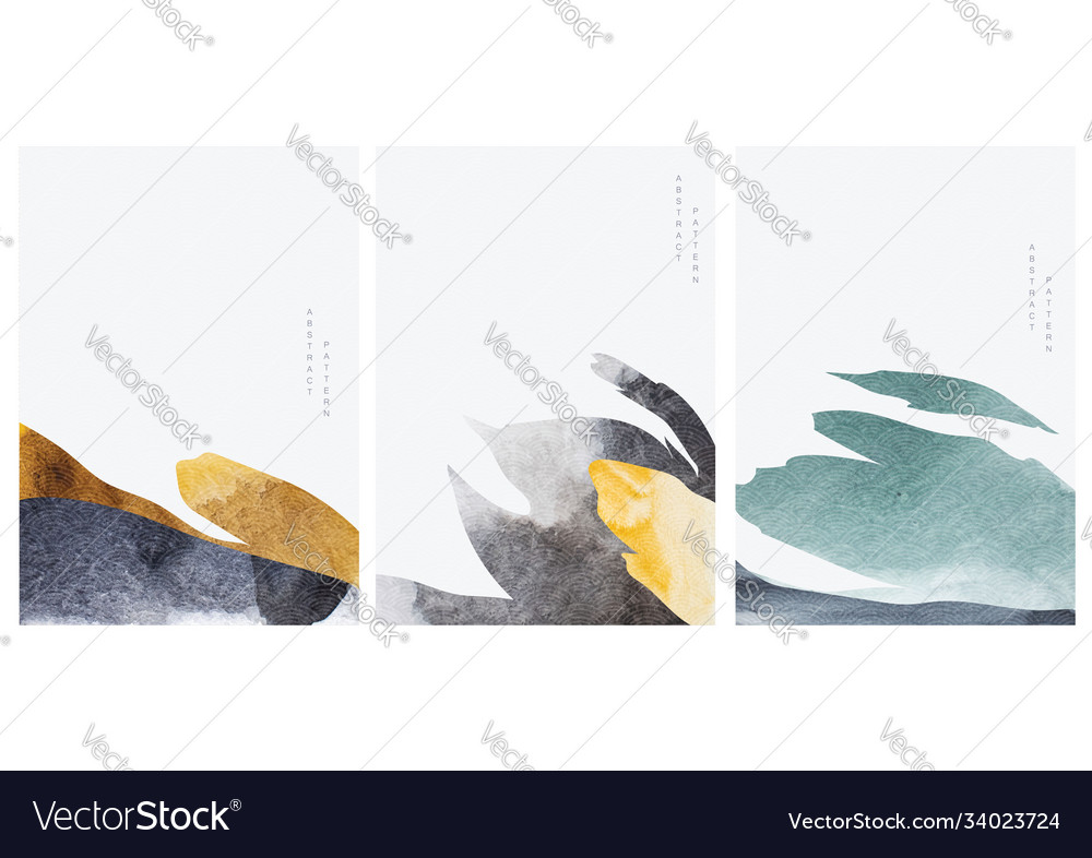 Abstract art background with art landscape