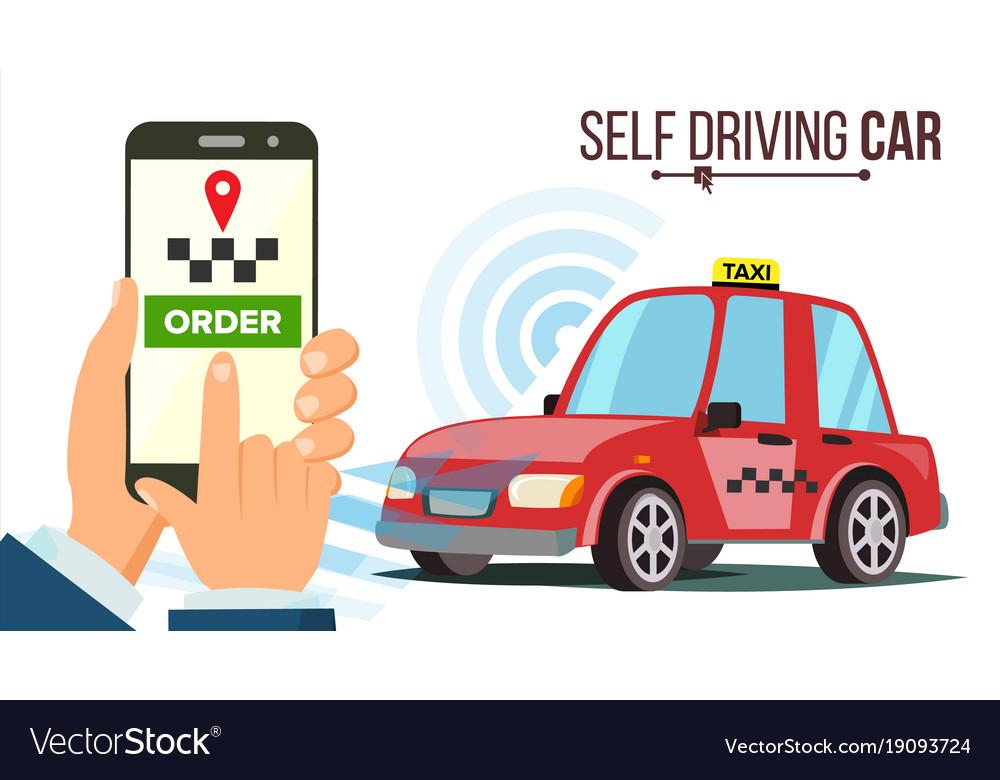 Automobile car modern driverless car Royalty Free Vector