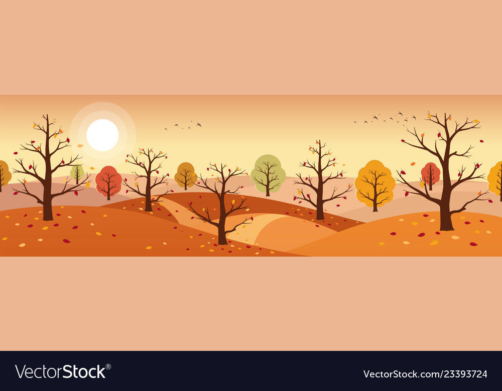 Autumn countryside landscape landscapes of