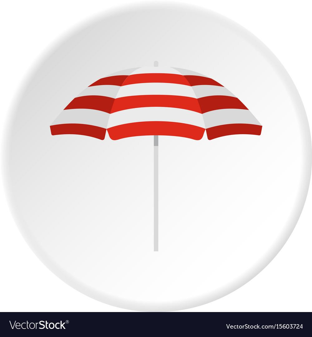 Beach umbrella icon circle
