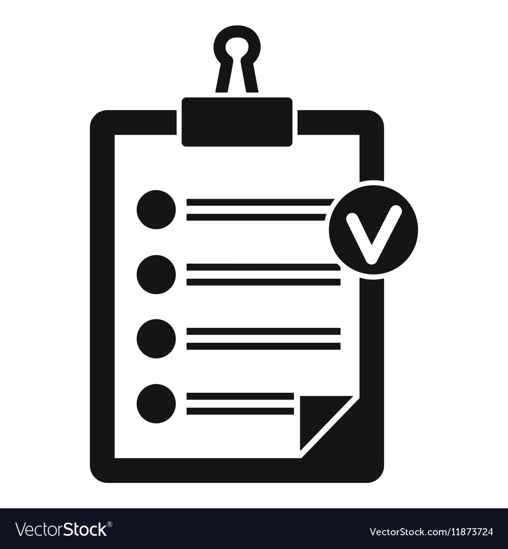 check list icon simple style royalty free vector image