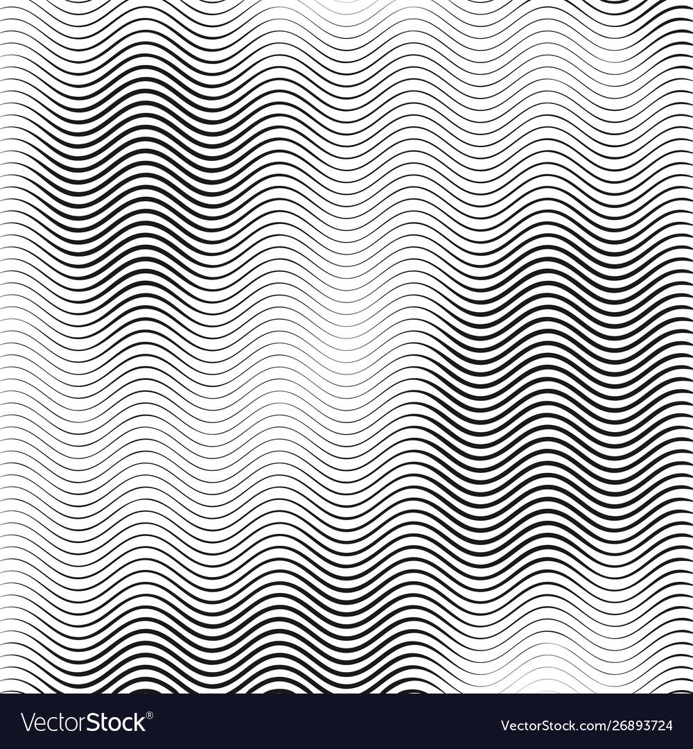 Monochrome wavy texture isolated on white