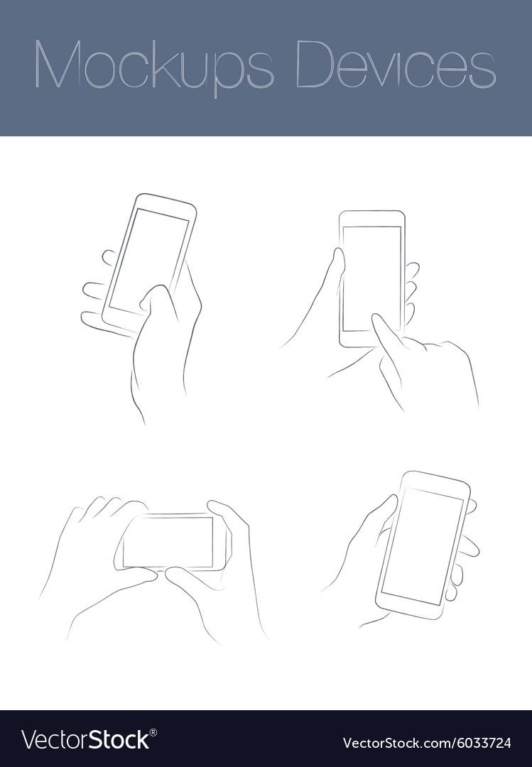 Set simple mock-ups mobile devices