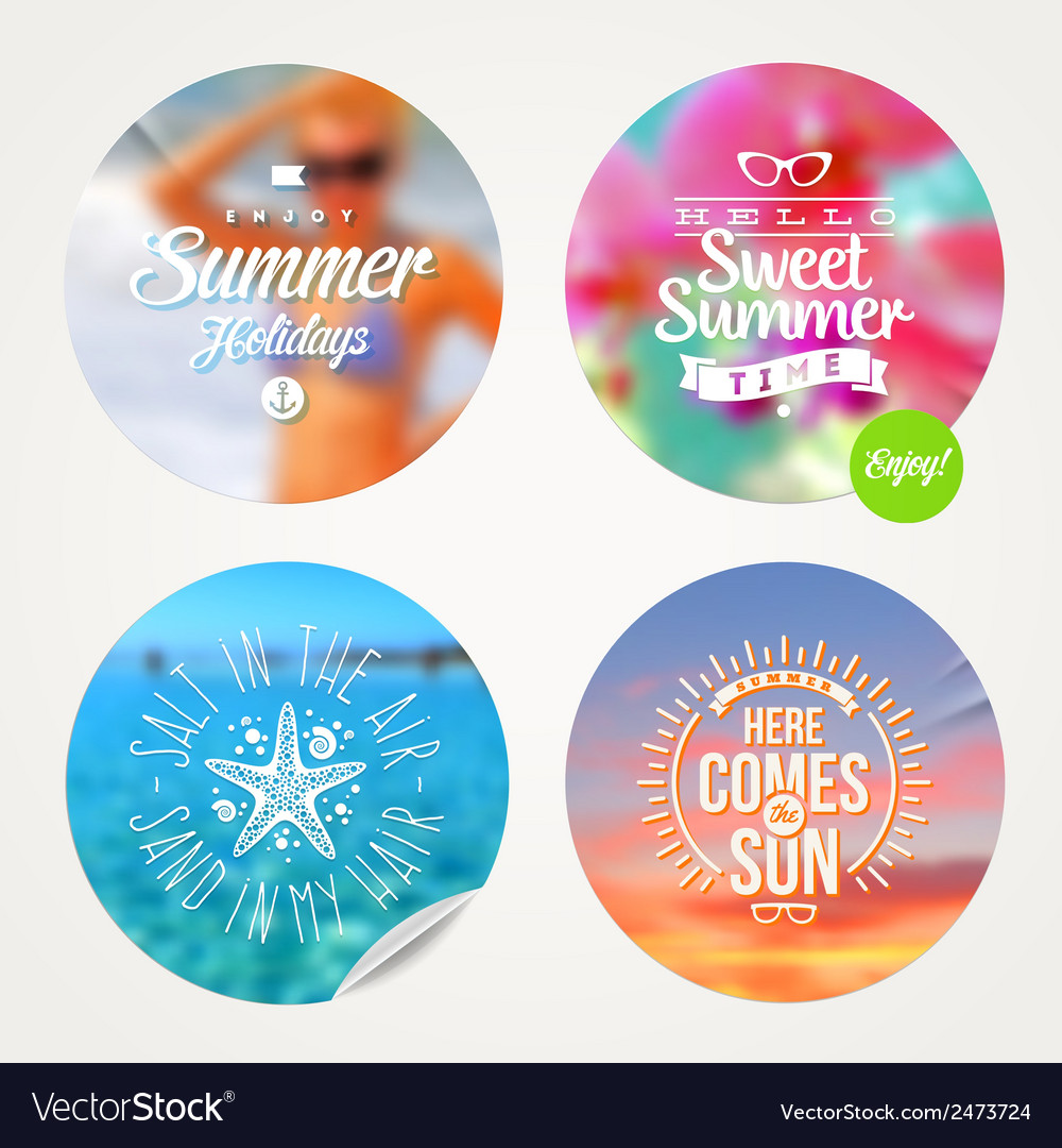 Summer holidays and tropical vacation set vector image