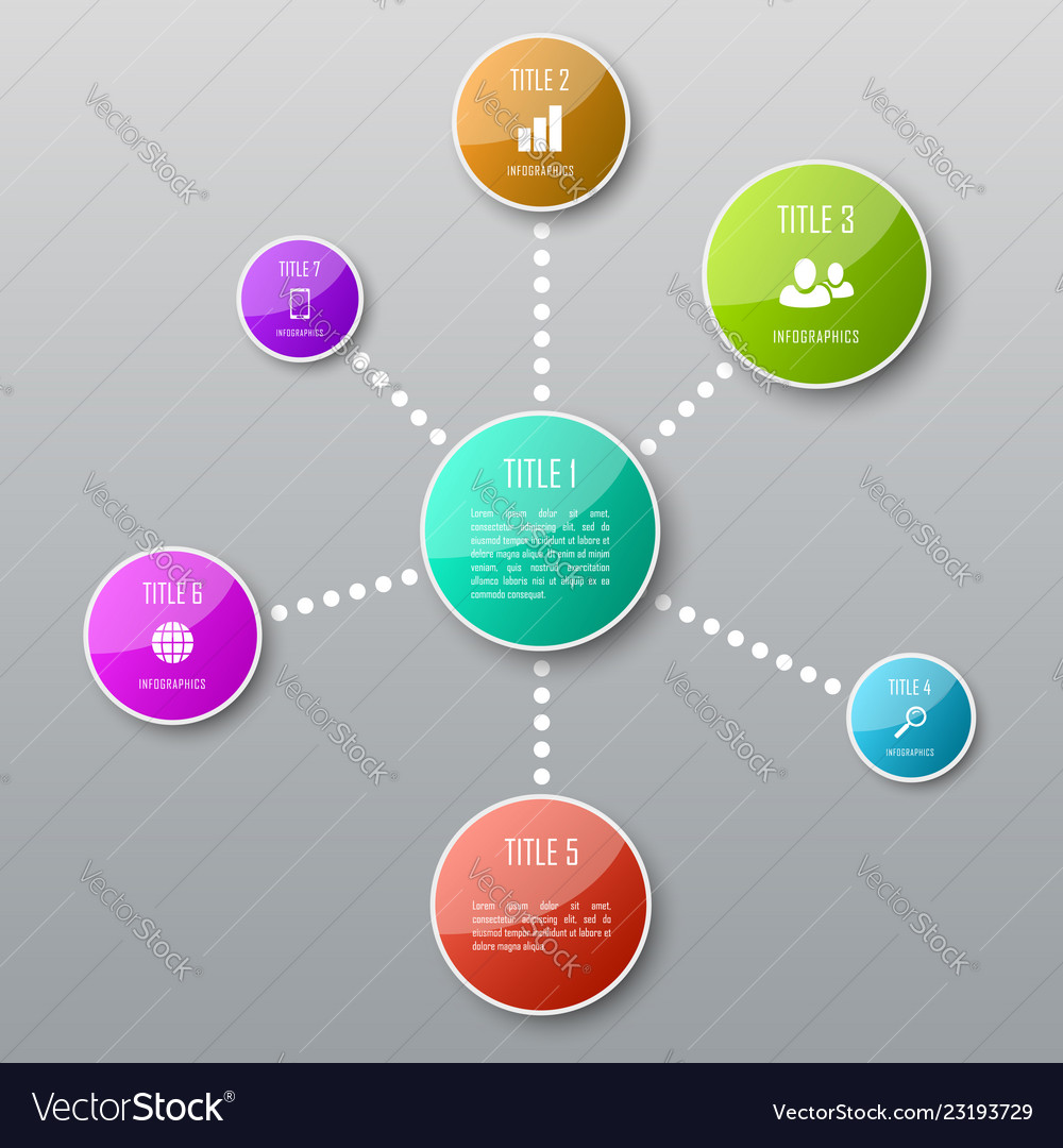 Abstract infographic template for chart diagram
