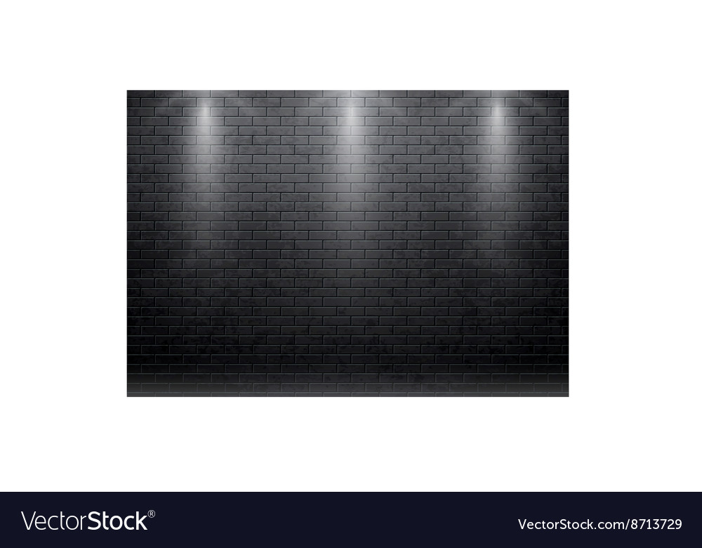 Brick wall black background with spot light 10 eps