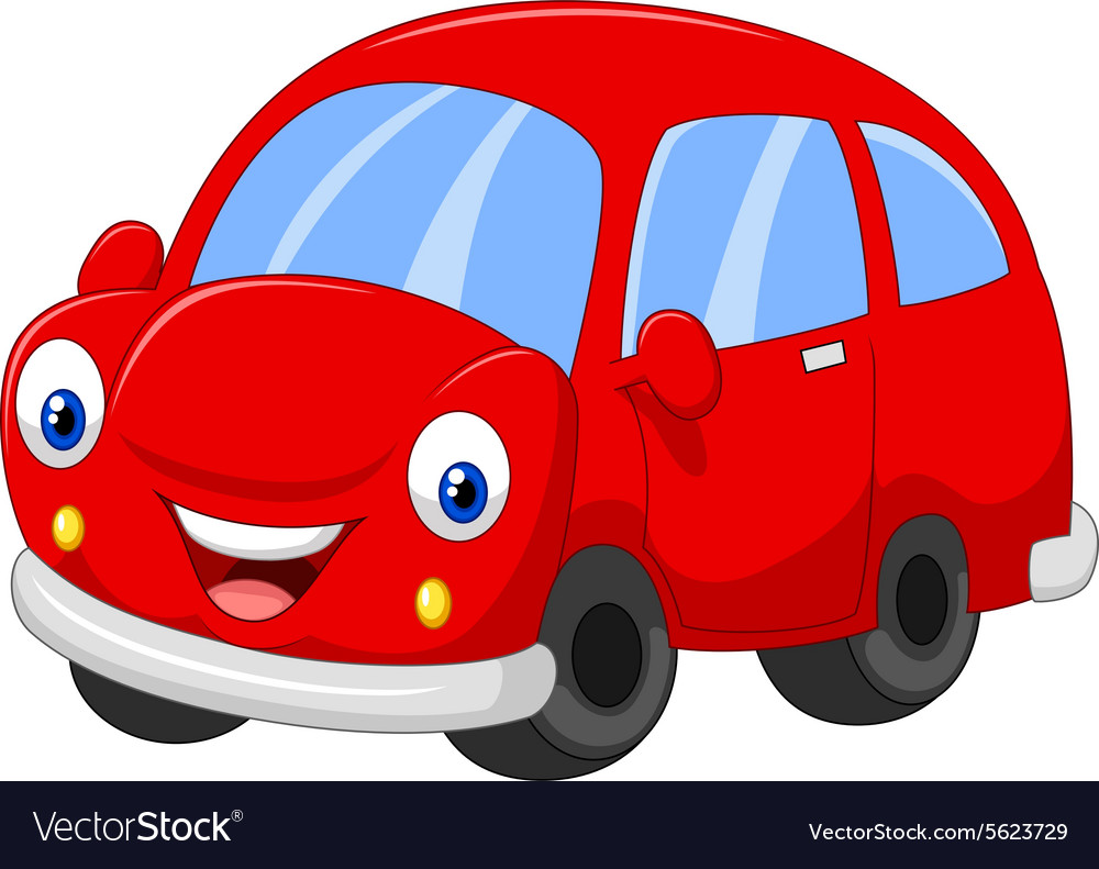 cartoon red car royalty free vector image vectorstock rh vectorstock com car vector plan car vector top