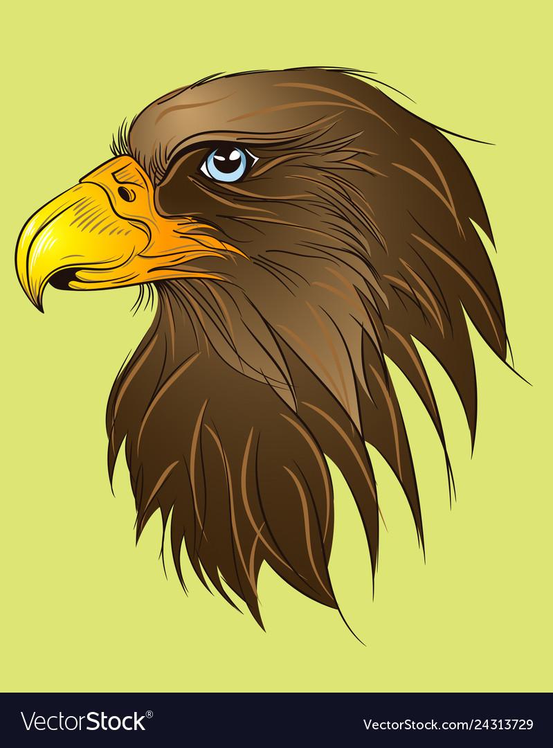 Hawk head green
