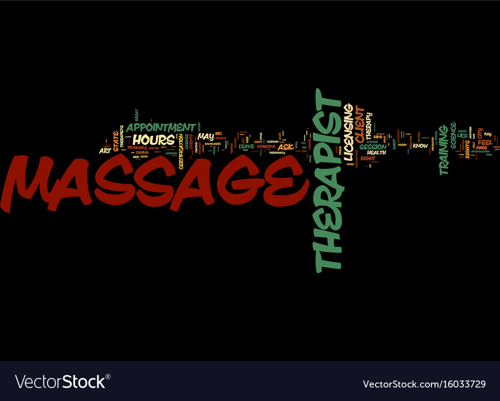 Massage bill of rights text background word cloud