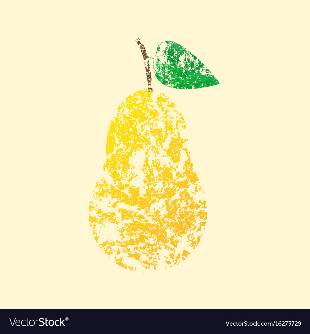 Pear yellow with leaves