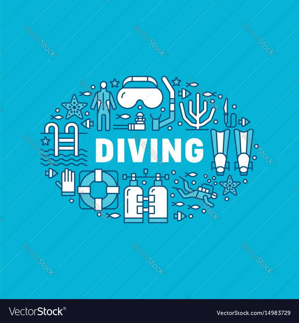 Scuba diving snorkeling banner