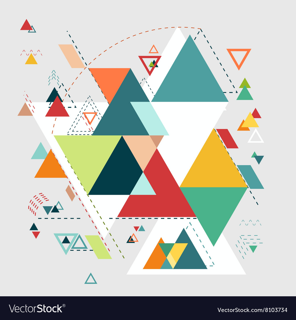Abstract geometric background triangle mosaic