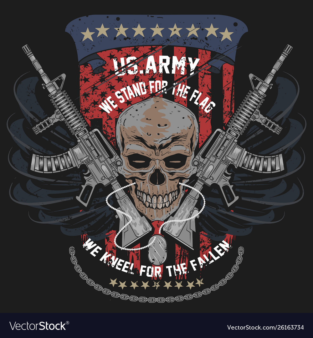 America us army skull usa american soldier with w