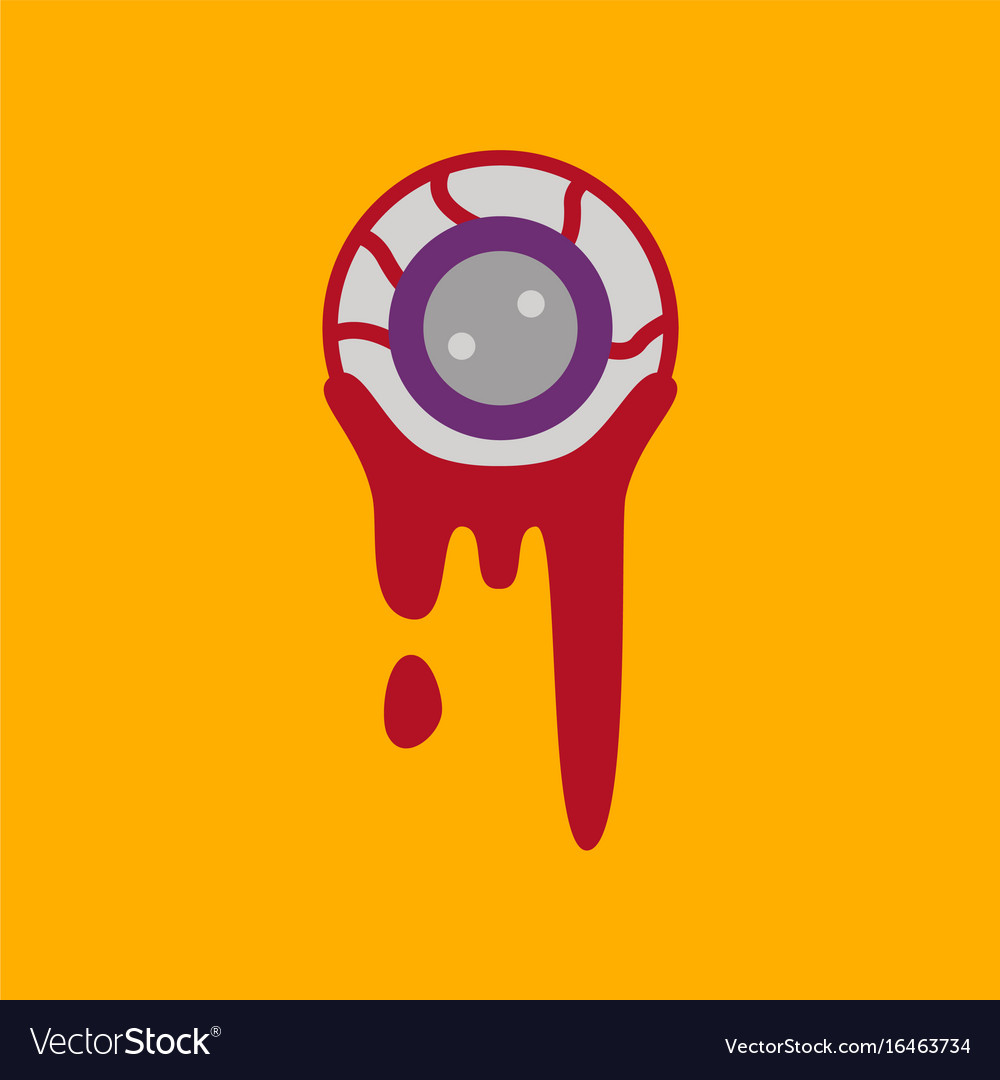 Flat icon on background halloween zombie eyes vector image