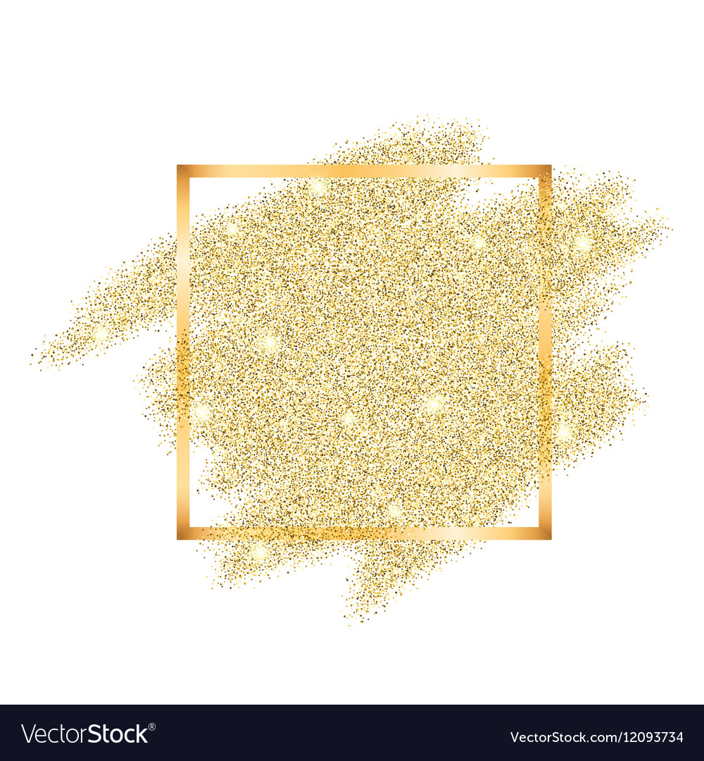 golden glitter template royalty free vector image