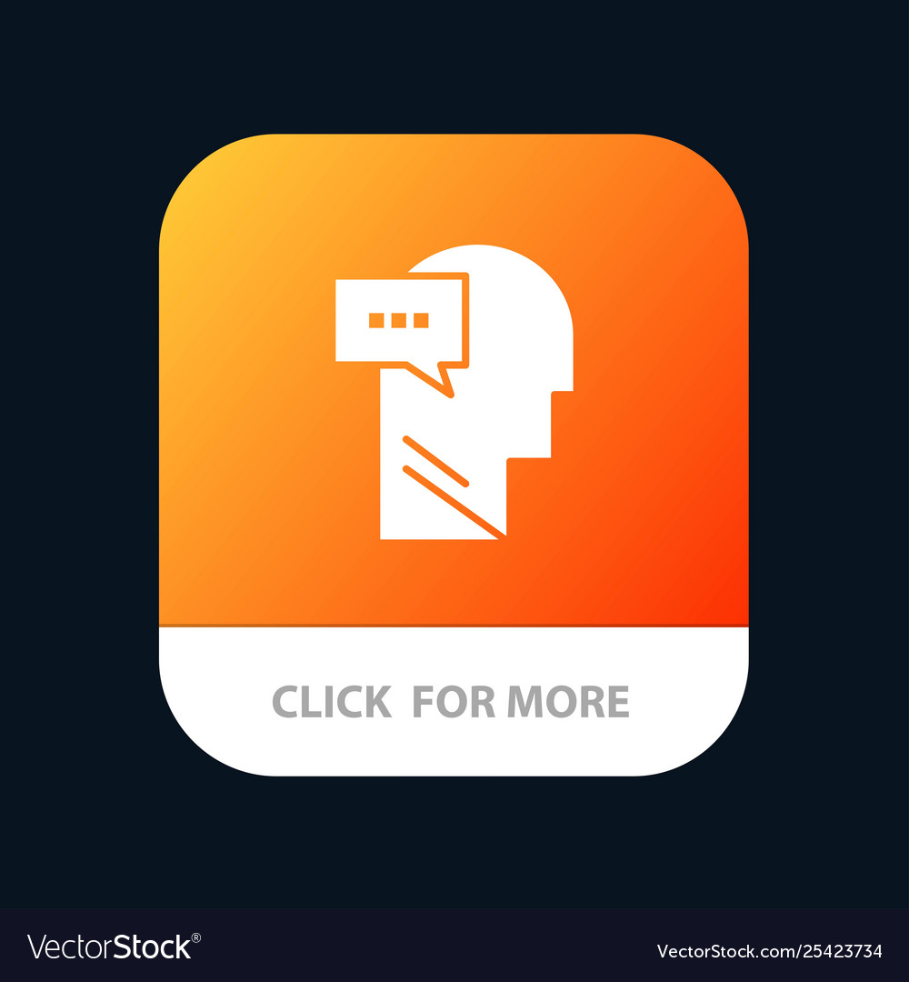 Mind dialog inner head mobile app button android
