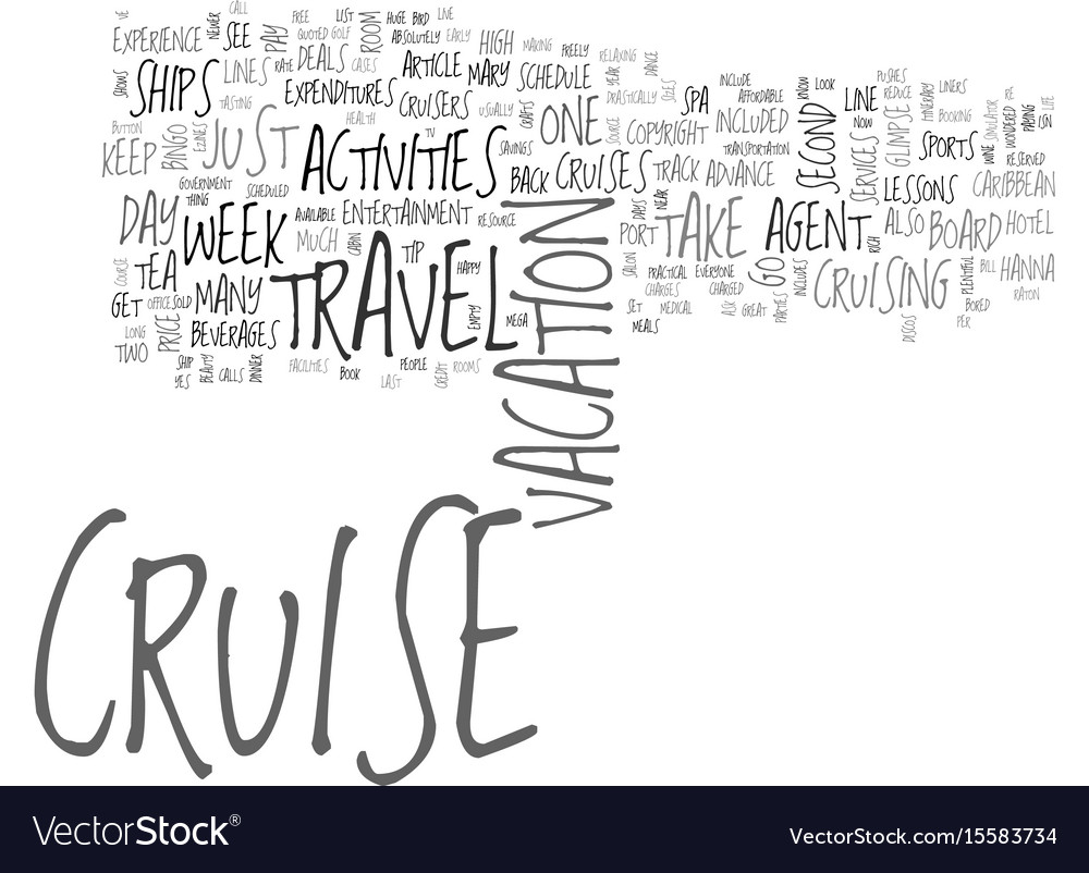 Why everyone can enjoy the cruise travel vector image