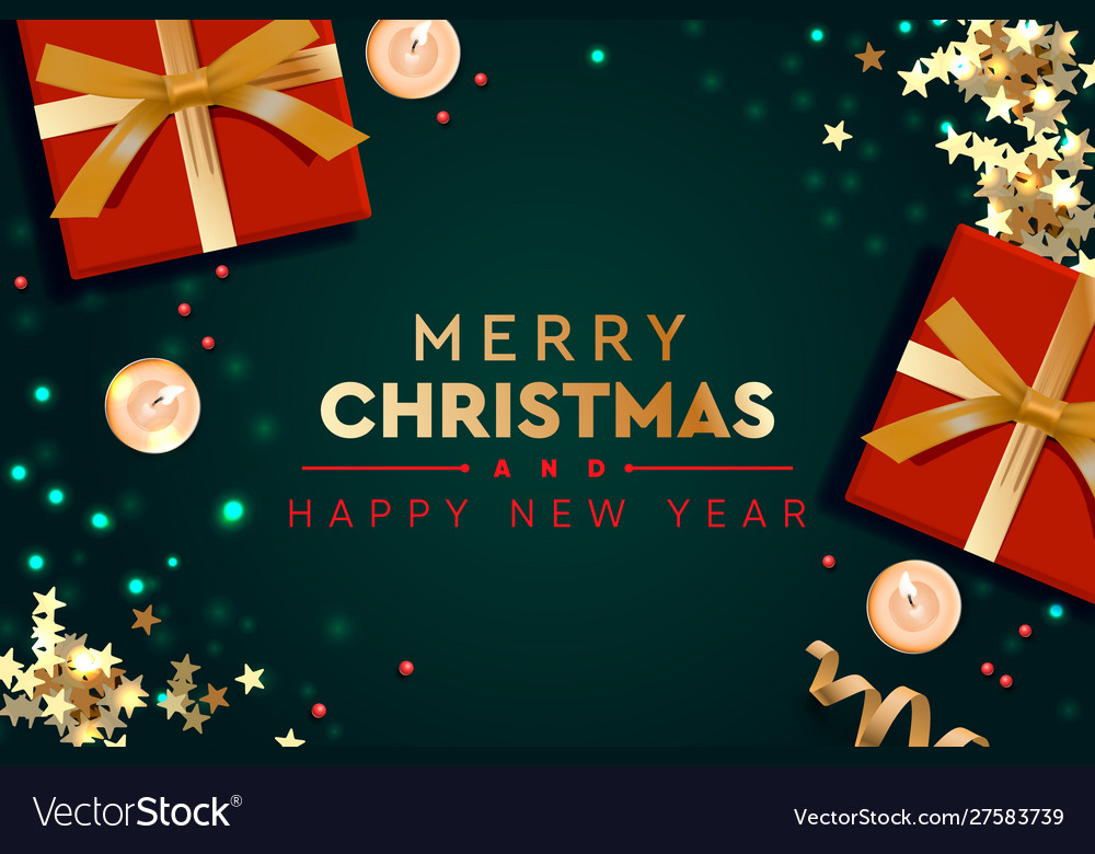 2020 happy new year and merry christmas Royalty Free Vector