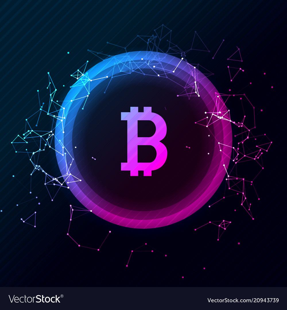 Bitcoin conceptual glowing background