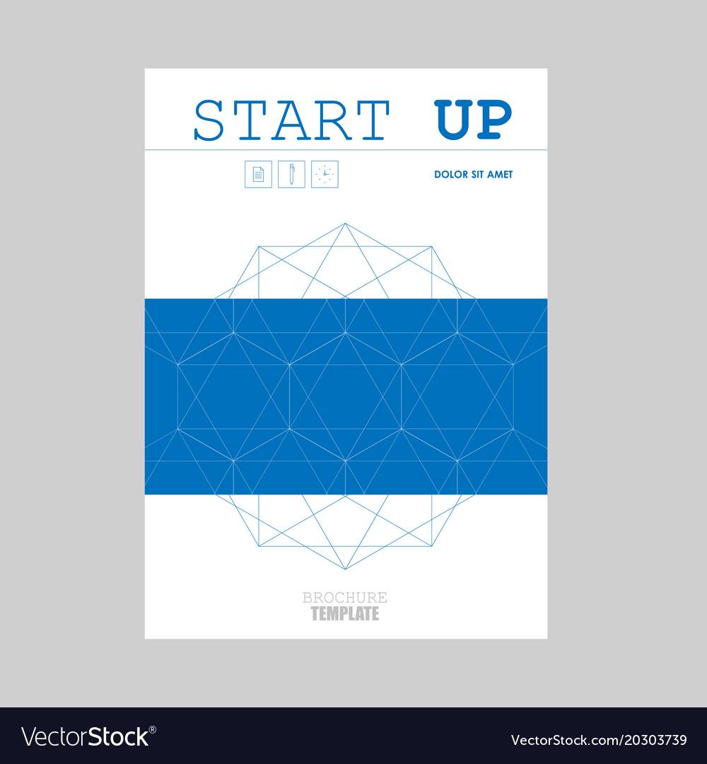 Brochure creative design with hexagon pattern