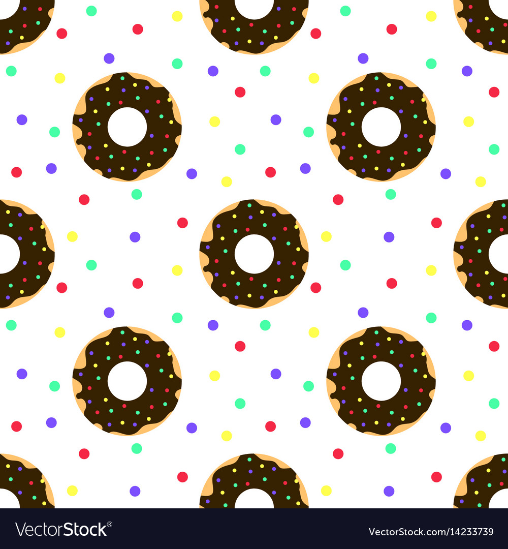 Chocolate donuts and colorful sprinkles