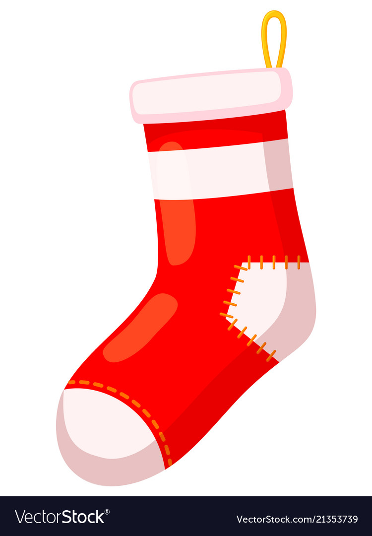 Christmas Stockings Cartoon.Colorful Cartoon Old Xmas Stocking