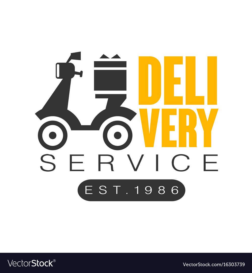 Delivery service est 1986 logo design template vector image